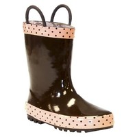 Girl's Frenchy French Rain Boots - Brown