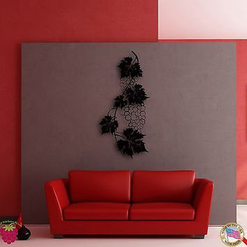 Wall Sticker Vine Wine Grape Cool Decor for Living Room or Kitchen z1394