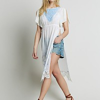 Free People Womens Embroidered Lace Maxi