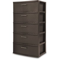 Sterilite 5-Drawer Weave Tower, Espresso - Walmart.com