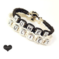 Romeo Juliet Couples bracelets set of 2