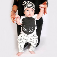 Cute Boss 2 Pcs Outfit   Shirt and Pants