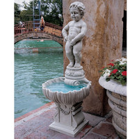 Outdoor Peeing Boy Statue Water Fountain