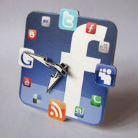 Facebook Icon Table Clock mini