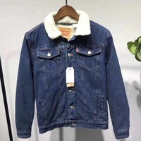 Levi¡¯s Fashion Cashmere Denim Jacket Coat