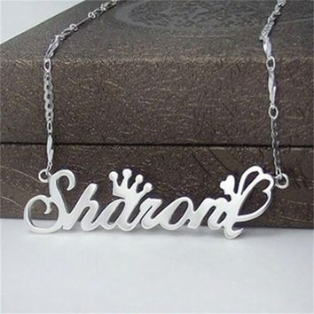 YiYaoFa Letter Necklace Name Necklaces & Pendants 925 Silver Jewelry Beauty Personalized Customize Gift Handmade Birthday Gift