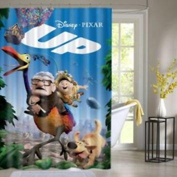 Disney and Pixar's Up Custom Shower Curtain Waterproof High Quality 60 x 72