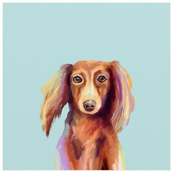 Best Friend - Longhaired Dachshund Wall Art