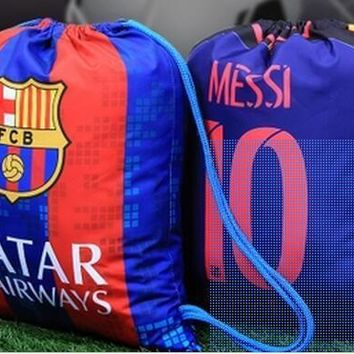 KUYOU Barcelona 16/17 Waterproof Sport Backpack with Logo Could Custom Name and Number