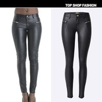 Summer Fashion Low Waist Embroidery Zippers Hot Sale Plus Size Skinny Pants [6365913156]