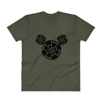 Wish Upon A Death Star Disney Star Wars Mashup Parody Men's V-Neck T-Shirt