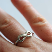 SALE - Infinity Ring - Best Friends - Personalized Sterling Silver Ring