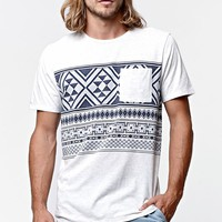 On The Byas Osage Jacquard Chest Crew T-Shirt - Mens Tee - Natural