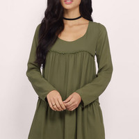 Tier She Goes Again Shift Dress $32
