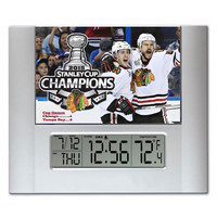Chicago Blackhawks 2015 Stanley Cup Champions Digital Wall Desk Clock with temperature and alarm