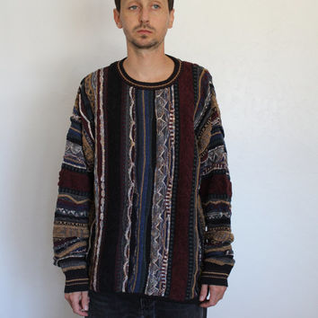 Coogi Style Multi Color Sweater Men's XL