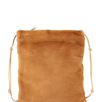 THE ROW Medicine Large Mink Pouch Bag, Caramel
