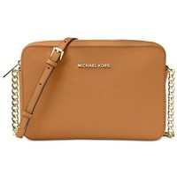 Michael Kors Jet Set Travel Large Crossbody Handbags & Accessories - Macy's