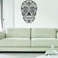 Sugar Skull Version 10 Decal Sticker Wall Vinyl Day of the Dead