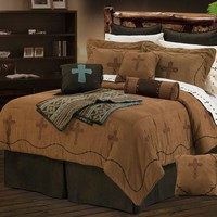 Barbwire Crosses Comforter Set