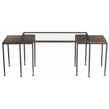 Arteriors Home Hammered Iron Nesting Cocktail Tables, Set/3 - Arteriors Home 6559