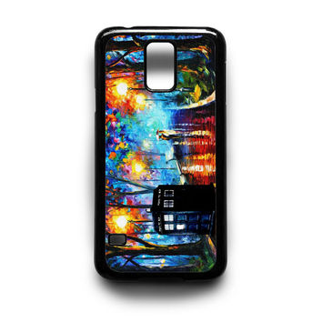 Tardis Doctor Who in The Rain Samsung S5 S4 S3 Case By xavanza