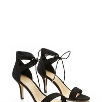 Ankle-Strap Faux Suede Pumps