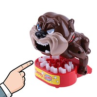 Plastic Funny Bite Finger Toy Beware Dog Steak Bones Family Interactive Toy Kids Christmas Gifts Trick Prank Toy for Children