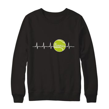 Tennis Heartbeat Sports Sweatshirt