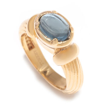 1.25ctw Exotic Gemstone Textured Classic Byzantine Band Ring