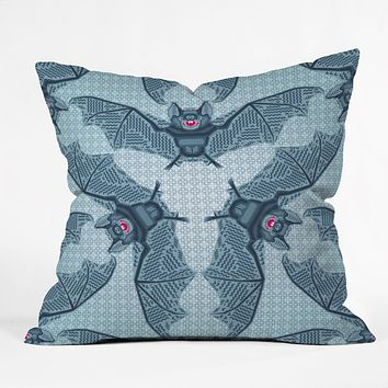 Chobopop Geometric Bat Pattern Throw Pillow