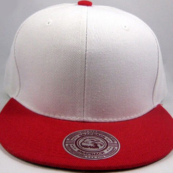 White/ Red Snapback