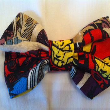 Iron Man Fabric Hair Bow Marvel Avengers Comics by StylishGeek