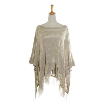 Plus Size Lightweight Spring Poncho