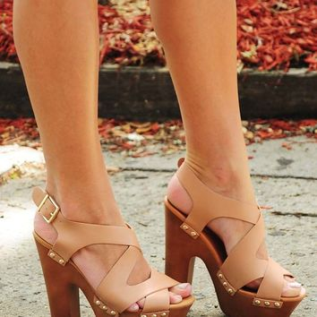 Along For The Ride Heels: Tan - Hope's Boutique