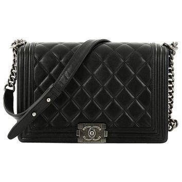 Chanel Boy Quilted Lambskin New Medium Flap Bag
