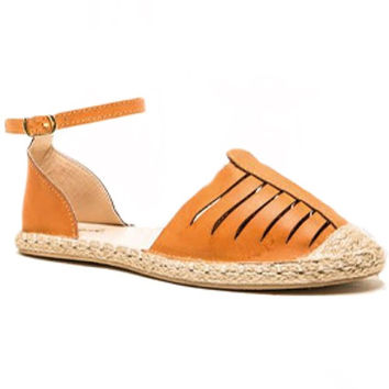 Mermosa Leather Espadrilles - Camel + Natural