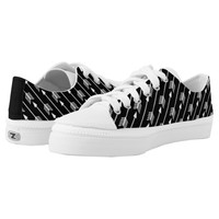Trendy Black and White Arrows Pattern Printed Shoes