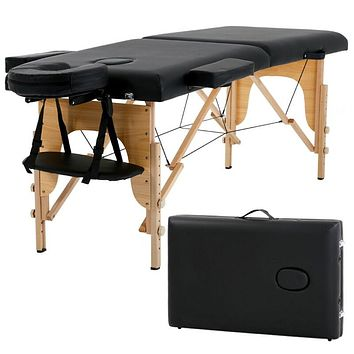"73"" Long Portable 2 Folding Massage Table, Spa BedW/ Carry Case, NEW"