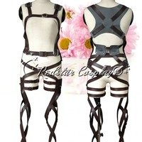 Attack on Titan Shingeki no Kyojin New Belts and harness Cosplay Straps & Skirt