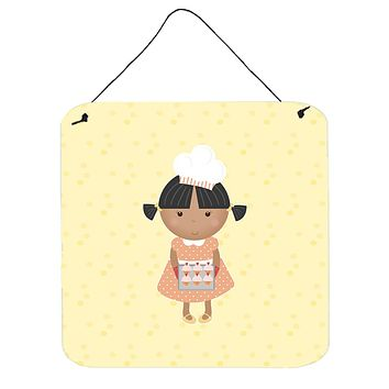 African American Baker on Yellow Wall or Door Hanging Prints BB7293DS66