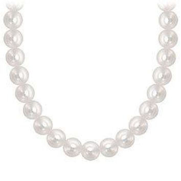 Akoya Cultured Pearl Necklace : 14K White Gold - 4 MM