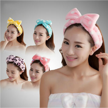 high quality Bathroom sets women Wash a face/outdoor sports comfortable flannel fabric headband hair Towel