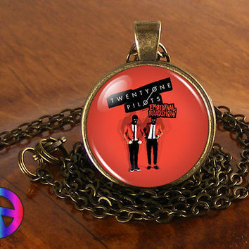 Twenty One Pilots 2 Music Band Necklace Antique Jewelry Glass Photo Pendant Gift