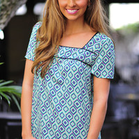 Patterned With Precision Top: Multi   Hope's