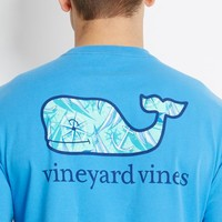 Compass Whale Graphic Pocket T-Shirt