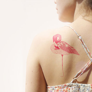 Flamingo Temporary Tattoo