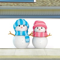 Christmas Garage Door Cover Banners 3d Snowman Holiday Outside Decorations Outdoor Decor for Garage Door G38
