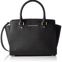 Michael Kors Women's Selma Medium Top Zip Satchel  mk