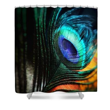 Peacock - Shower Curtain
